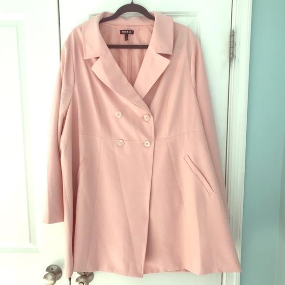 torrid Jackets & Blazers - Torrid pink fit n flare jacket